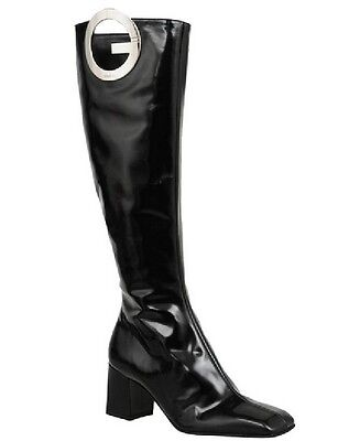Vintage GUCCI by Tom Ford sz 6 B black knee high boots 1990s