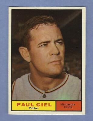 1961 Topps - #374  Paul Giel - Minnesota Twins - ExMt+  CENTERED