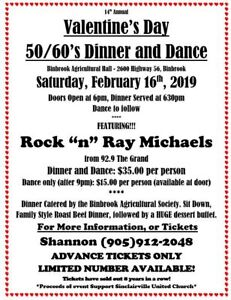 Valentine's 50/60's Dinner and Dance