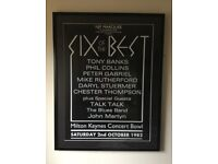 Rare 1982 Framed Genesis Concert Poster