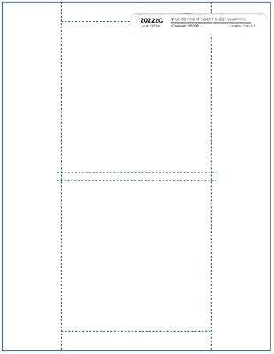 =MATTE FINISH= Jewel Case =2-UP FRONT= INSERTS with Matrix 200-Pak (100 sheets)