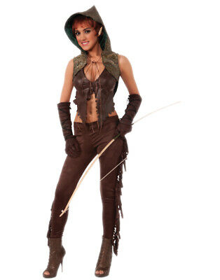 Womens Medieval Sexy Elf Hunter Rings Lord Thrones Game Costume Standard 6-12 - Womens Hunter Costume