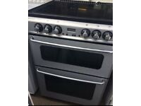 NEWHOME ELECTRIC COOKER 60cm WIDE DOUBLE OVEM WITH GRILL FREE DELIVERY AND WARRANTY