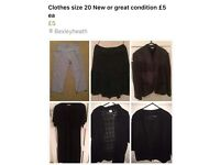 Womens Clothing either New or Great Codition size 20 £5 ea
