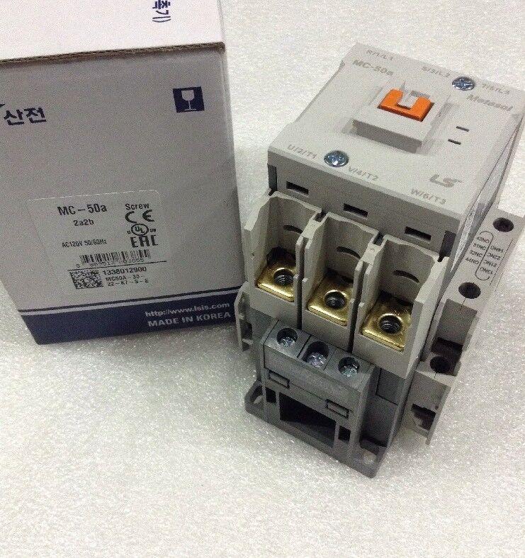 LS Metasol Contactor Screw MC-050a/3-120 3P 70A AC1 120vac 2a2b NEW!