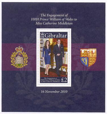 Gibraltar - 2011 Prince William engagement sheetlet of 1 #1266 cv 6.50 Lot #1031