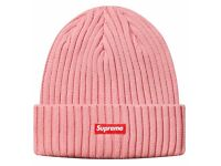 Supreme Box Logo Ribbed Beanie FW15 'Pink' One Size Fits All Brand New