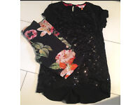 Girls sequin ted baker outfit