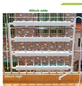 Wall-mounted Hydroponic Grow Kit 36 Plant Sites 4 Pipes #141123