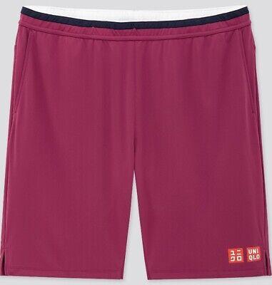 Uniqlo Size XL Roger Federer Purple Tennis Shorts BNWT Australian Open 2020 New