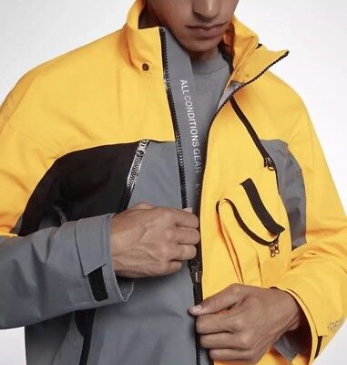 Nike Nikelab ACG Deploy GoreTex Jacket Yellow 923952 065 NWT Men's SZ L $600