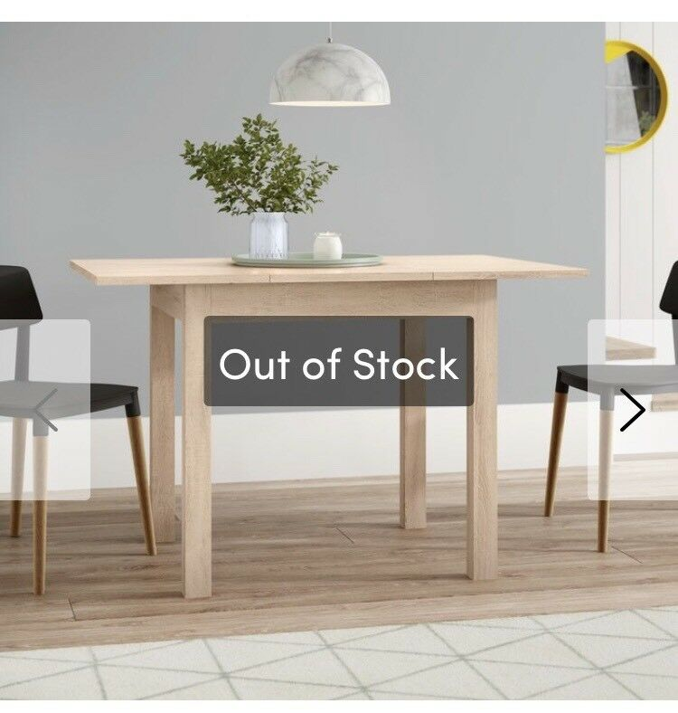 30a98cf4c8e Brand New Boxed Bamberg Extendable Dining Table
