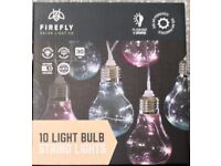 10 light bulb string lights pink and blue bulb