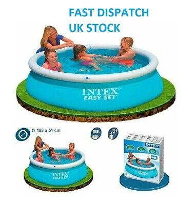 Intex 6ft 6' Foot Easy Fast Set Family Children's Swimming Paddling Garden Pool