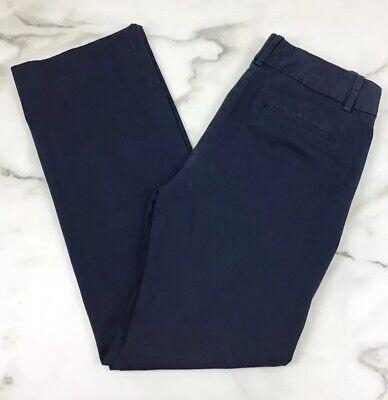 J. Crew Navy Blue Cotton Trouser Chino Pants Size 0