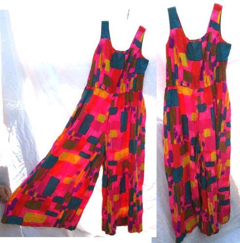 Vintage The Kahala Honolulu Hawaii Jumpsuit One Piece Sleeveless Tank Dress