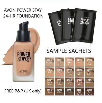 Avon True POWER STAY 24-Hour Foundation SAMPLE SACHET All Shades **FREE P&P**