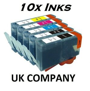 10-INK-CARTRIDGES-FOR-HP-364-XL-PHOTOSMART-HP364-5510e-5515e-B211-C410-B111