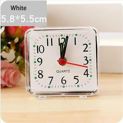 Small Bed Compact Travel Square Quartz Beep Alarm Clock Cute Portable