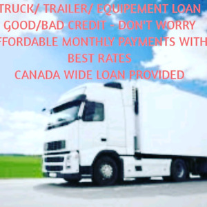 Truck Trailer and Heavy Equiment loan in Brampton