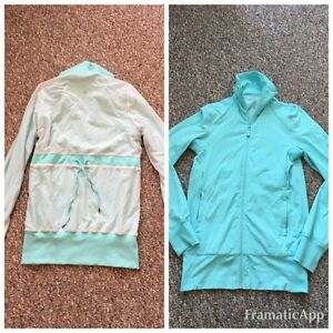 GORGEOUS LULULEMON MINT / TEAL REVERSIBLE JACKET