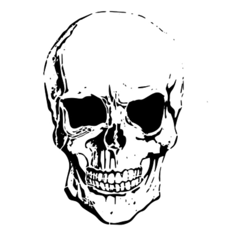 Airbrush Schablone - Stencil Skull 15294