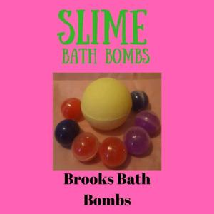 Slime capsule bath bombs