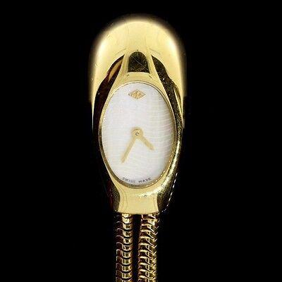 RARE VAN CLEEF & ARPELS YELLOW GOLD CADENAS SERTIE DIAMOND WATCH REG ~$25000