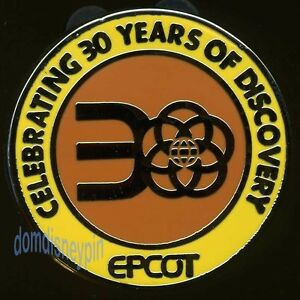 Disney Pin Epcot 30th Anniversary *Hidden Mickey* Celebrating 30 Years Logo!
