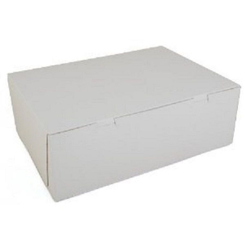 20 count WHITE  14 x 10 x 4 Bakery or Cake Box