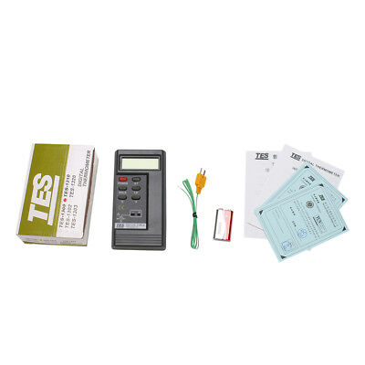 New Tes1310 Digital Thermometer Meter Tester K Type Temperature Probe Tester Rt