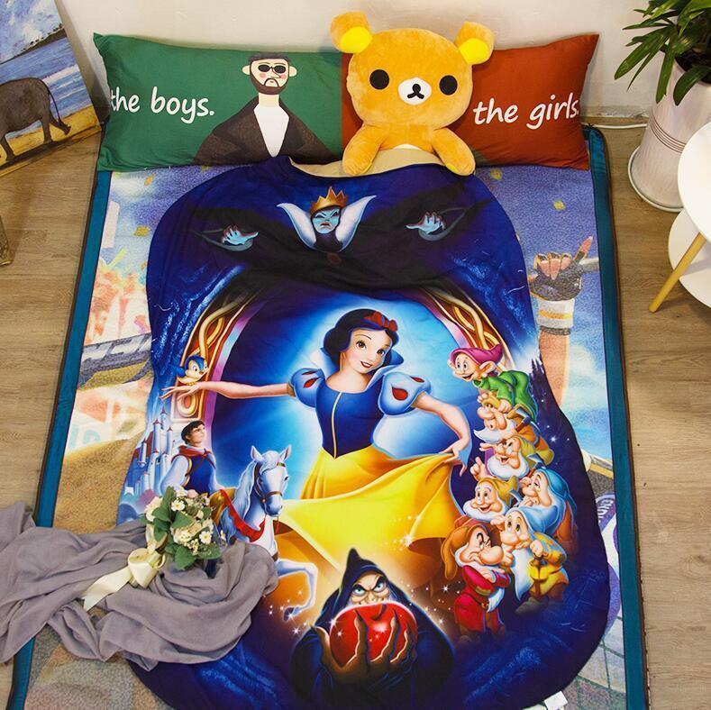 3D Disney Princess Snow White &7 Dwarfs Air Conditioner Comf