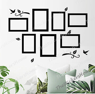 Home Decoration - Photo Frames Bird Tree Wall Decal Stickers Family Home Art Decor Removable Vinyl