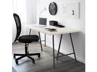 IKEA Desk (150cm x 75cm) White & Grey
