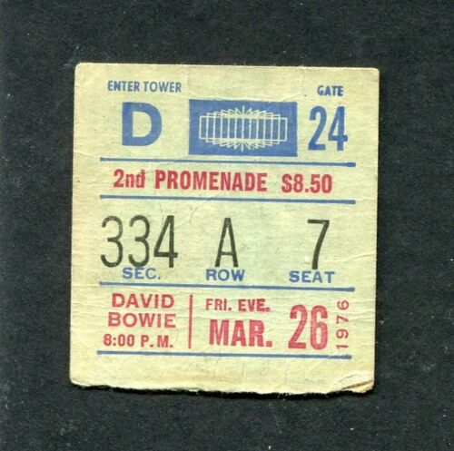 David Bowie Concert Ticket Stub 1976 Isolar Station to Station Tour New York
