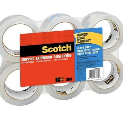Scotch Heavy Duty Shippingpackaging Tape 6 Rolls New