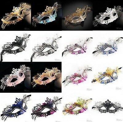 New! Classic Filigree Metal Luxury Venetian Masquerade Ball Mask for Women