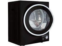 Mini Tabletop Black Compact Vented Tumble Dryer 2.5kg Portable