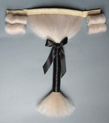Büffelhaarperücke für DREISPITZ HUT - Büffelhaar Rokoko Perücke - für - Kostüm Für Drei