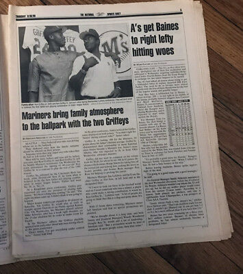 The National Sports Daily Newspaper Ken Griffey Jr And Sr To Play Together 1990