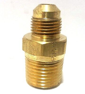 Parker Male Brass Fitting Male Pipe Adapter 38 Flare X 12 Male Pipe Mit