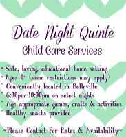 DATE NIGHT CHILDCARE AVAILABLE