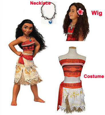 US Girls Animie Movie Polynesia princess Moana Cosplay Costume Dress halloween - Girls Princess Halloween Costumes