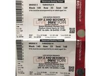 2x Beyoncé & Jayz tickets for Saturday 16th June