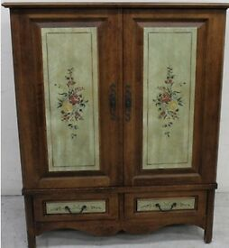 Beautiful hand painted entertainment unit/cupboard