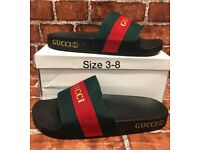 BRAND NEW GUCCI SLIDERS IN BOX SIZE 3-8 WOMANS MANS KIDS NIKE VAPORMAX MONCLER A59