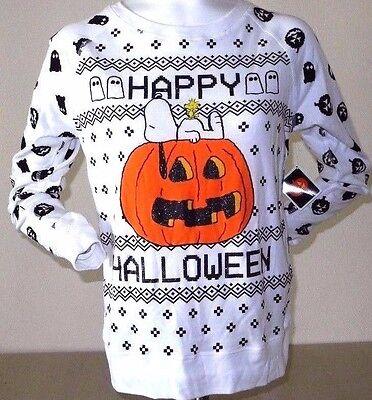 Peanuts HAPPY HALLOWEEN Snoopy Woodstock TEE Juniors Size S M XL NEW W/TAG