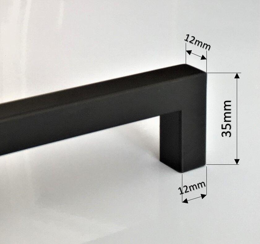 Black Kitchen Handles Melbourne: BLACK STAINLESS STEEL Kitchen Cabinet Door Drawer Handles