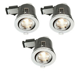 Chrome effect downlights x 6, unused and unopened