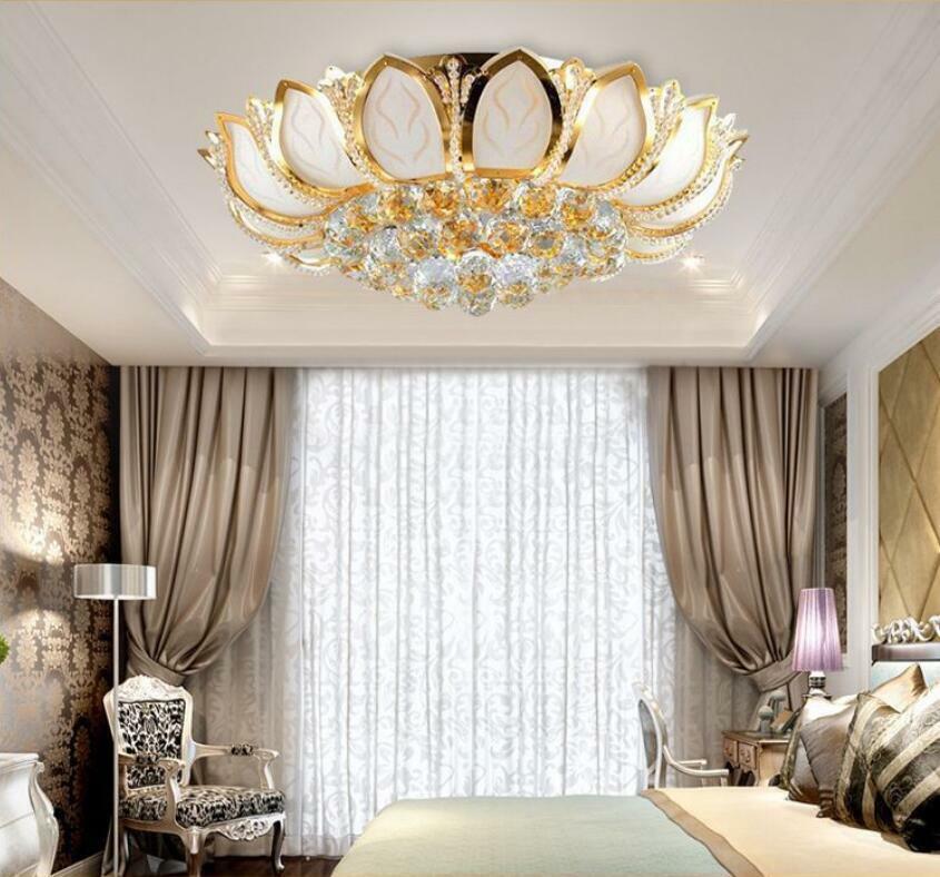 """23.5"""" Petal K9 Crystal Chandeliers Bedroom Ceiling Fixtures"""